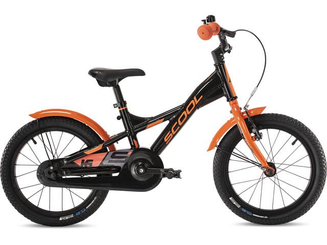 s'cool XXlite alloy 16 Kinderen, black/orange